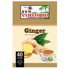 ITS COLOMBO GINGER TEA 80 gr . 40 bags