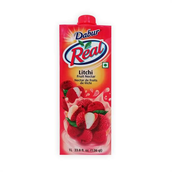 DABUR REAL LITCHI FRUIT NECTAR 1 lt.