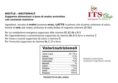 POLVERE DI NESTOMALT IN LATTINA 400 gr