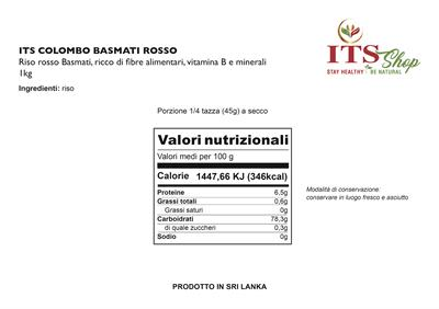 ITS COLOMBO RISO BASMATI ROSSO 1 kg